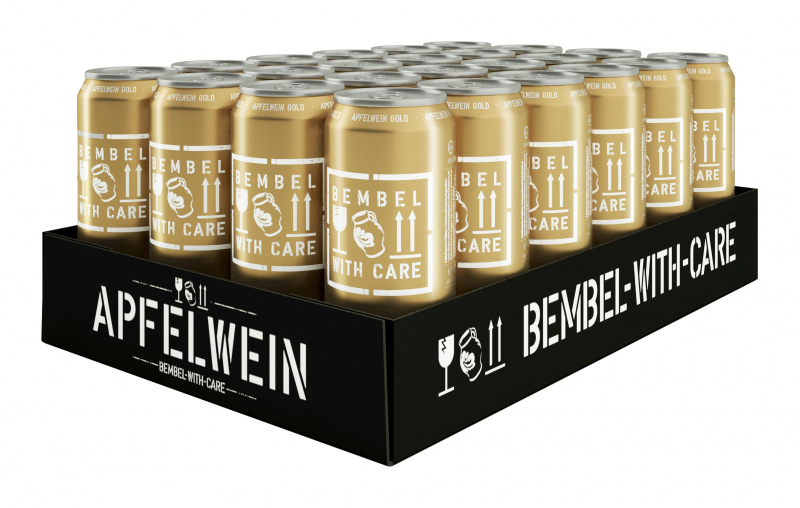 Sidras BEMBEL-WITH-CARE Apfelwein Gold, 24x500ml