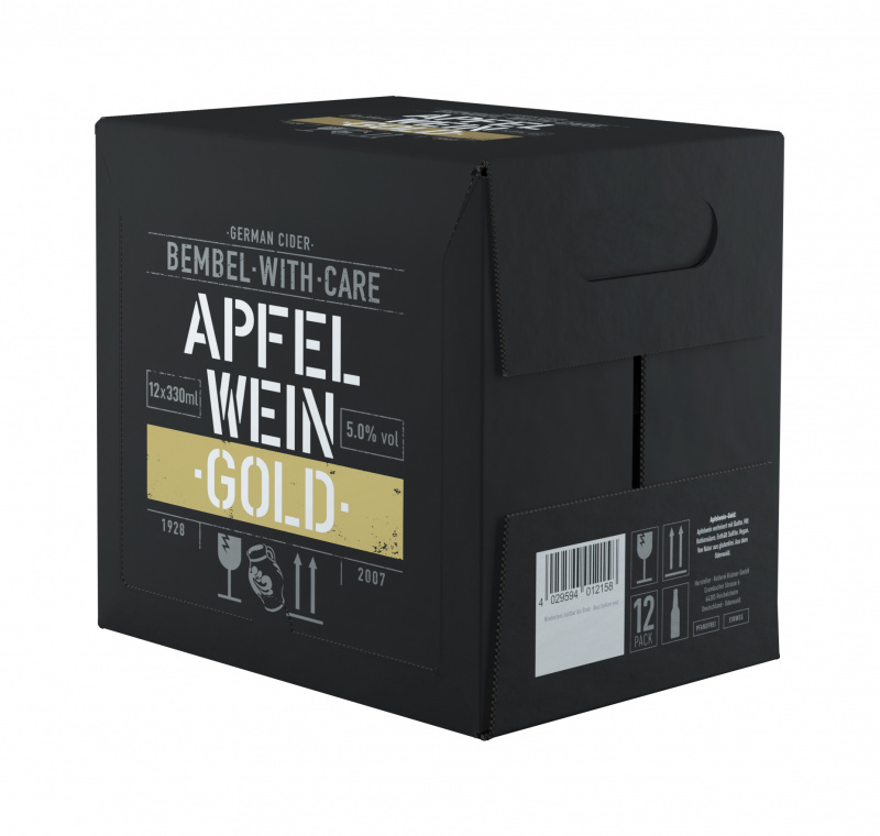 Cider BEMBEL-WITH-CARE Apfelwein Gold, 12x0,33l