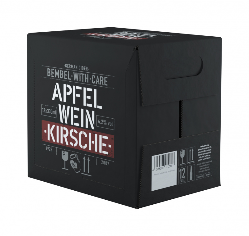 Cider BEMBEL-WITH-CARE Apfelwein Kirsch, 12x0,33l
