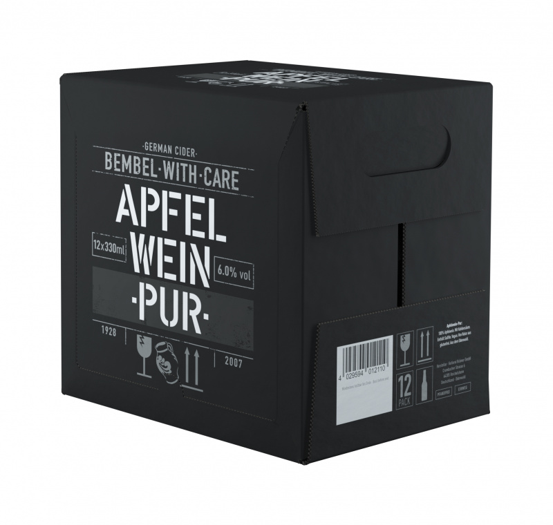 Sidras BEMBEL-WITH-CARE Apfelwein Pur, 12x330ml